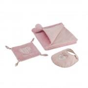 Maisons du Monde VICTORINE heart motif newborn gift set in pink