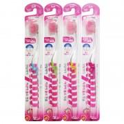 DENTAL CARE «Fluorine Toothbrush» Зубная щётка «Фтор» cо сверхтонкой двойной щетиной (средней жёсткости и мягкой) и прозрачной прямой ручкой, 1 шт.