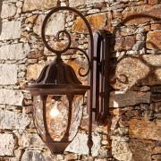 LOBERON Wandlamp voor buiten Herrère / donkerbruin