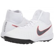 Nike Jr Magista ObraX 2 Academy Dynamic Fit TF Soccer (Little KidBig Kid) WhiteMetallic Cool GreyLight Crimson