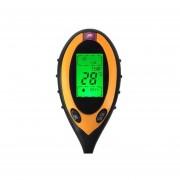 4 En 1 Probador De Suelo Electrónica Analizador De Temperatura Humedad Ph / Electronic Soil Tester PH Humidity Temperature Analyzer - Amarillo + Negro