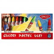 Creioane pastel ulei 12 culori/set DACO