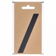 Merkloos Bootnaam sticker leesteken schuine streep zwart 3 cm