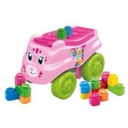 Cuburi constructie pentru bebelusi Clemmy moi parfumate depozitate in masinuta pisicuta