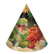 Geen Dinosaurus kinder feesthoedjes 16 stuks