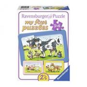 Puzzle Animalele buni prieteni, 3x6 piese