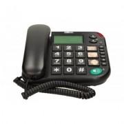Maxcom KXT480 BB telefon przewodowy, czarny Dostawa GRATIS. Nawet 400zł za opinię produktu!