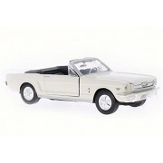 Motor Max 1964 1/2 Ford Mustang Convertible, Beige - 73145 1/18 Scale Diecast Model Toy Car