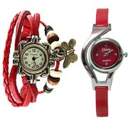 Two Fancy watches Combo Butterfly Glory Brandedking By SSS deals(RED)