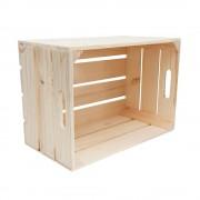 """Lădiță din lemn de brad cu manere 44 x 31 x 24 cm """"Paparuda"""""""