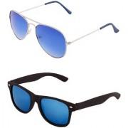 Code Yellow Unisex Blue Lenses Sunglasses Combo