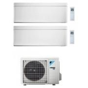 Daikin Stylish Condizionatore Dual Split 7000+9000 Btu Bianco Gas R-32 Wi-Fi Inverter 2mxm50m A+++