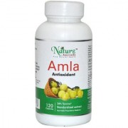 Naturz Ayurveda Amla / Amlaki Indian gooseberry pure powder and extract in 120 capsules - Natural antuioxidant for immune support.
