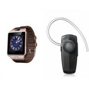 Mirza DZ09 Smartwatch and HM1100 Bluetooth Headphone for SONY xperia u.(DZ09 Smart Watch With 4G Sim Card Memory Card| HM1100 Bluetooth Headphone)