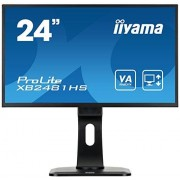 IIYAMA prolite xb2481hs-B1 59,94 cm (23,6 inch) LED-monitor (HDMI, DVI, VGA, 6 MS responstijd) Zwart