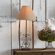 LOBERON Tafellamp Clamart / roestbruin/linnen
