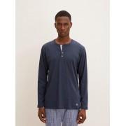 TOM TAILOR pyjama Top met lange mouwen, Heren, blue-dark-solid, 50/M