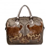 Pretty, Hot & tempting Laptoptas Leer+vacht - Beige bruin