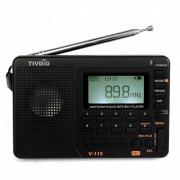 TIVDIO V-115 Radio AM FM SW Pocket Radio Ontvanger Kortegolf Transistor Mp3-speler Tf-kaart USB REC Recorder FM Tuner Werk F9205A