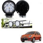 Auto Addict DEVICE 4 inch 9 LED 27Watt Round Fog Light with Flood Beam Auxiliary Lamp Set Of 2 Pcs For Ford Figo