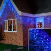 Instalatie de Craciun Premium Flippy Tip Franjuri cu Flash 6 m 180 LED-uri Albastru 2094B Interconectabila