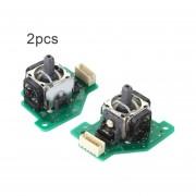 2PC/SET 3D Derecha Izquierda Stick Analógico Del Joystick Analógico De Repuesto Joystick Con Placa PCB Adecuado Para Wii Controlador U-verde