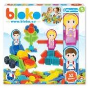 Set de construit BLOKO Tepi 52 piese cu doua figurine baietel si fetita STEM Education