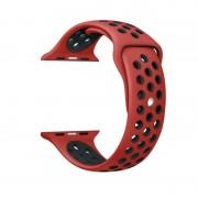 Voor Apple Watch serie 1 & serie 2 & Nike + Sport 38mm modieuze klassieke siliconen Sport horlogeband (rood + zwart)