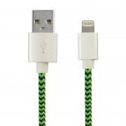 Ksix Sport Cable USB a Lightning 1m Verde