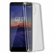 Avizar Funda de Silicona Transparente Flexible para Nokia 3.1