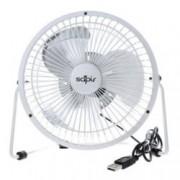 Настолен вентилатор Sapir SP 1760 USB4, 5V, 10 cm диаметър, 2.5W, бял
