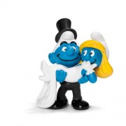 Schleich Bride and Groom Smurf Toy Figure