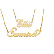Yellow Gold-Plated Personalised Name Necklace