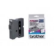 Brother Cinta BROTHER TX251 laminada. Texto negro sobre fondo blanco. Ancho: 24 mm. Longitud: 15 m para Rotuladoras BROTHER serie P-Touch PT