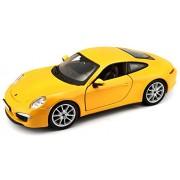 Bburago 1:24 Porsche 911 Carrers S, Yellow