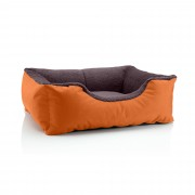 BedDog dog / cat sofa TEDDY S to XXXL, 14 colours to choose, made from Cordura & Microfiber Velor, washable dog bed, dog cushion, indoor & outdoor use