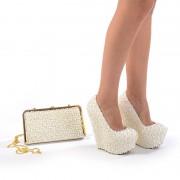 Pantofi de mireasa cu poseta inclusa Mia (Marime: 38 EU)