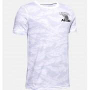 Under Armour Jongens T-shirt UA AOP Camo BBall - Boys - White - Grootte: YM