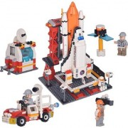 Emob 679 PCS Space Shuttle Rocket Launch Station Center Educational Block Construction Toy With Astronaut Model Mini Fig