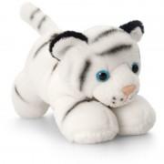 Tigru de plus Keel Toys, 15 cm, Alb, 3 ani+