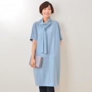 KidsAngel タイカラーワンピース【QVC】40代・50代レディースファッション
