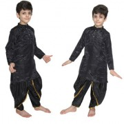 Kaku Fancy Dresses Black Dhoti Kurta For Kids kids Costume of Indian State Traditional Wear For Kids School Annual function/Theme Party/Competition/Stage Shows/Birthday Party Dress