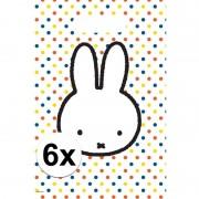 Nijntje 6x Nijntje feestartikelen witte/gekleurde feestzakjes 30 x 21 cm plastic