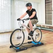 HOMCOM Rolo Treino para Bicicleta Dobrável Aparelho de Treino para Bicicleta no Interior Resistência Ajustável Moldura de Aço Carga 100kg