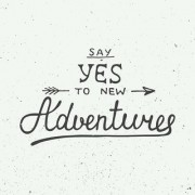 say yes to new sticker poster|travelling quotes|for travellers|size:12x18 inch|multicolor