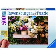 Puzzle flori si palarii, 500 piese Ravensburger