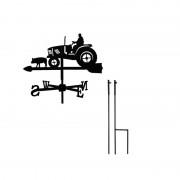 Svens Girouette Fermier et Tracteur petit modèle + Mât à planter