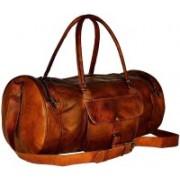 Pranjals House (Expandable) Vintage Brown Genuine Leather Handmade Duffle Bag Travel Duffel Bag(Brown)