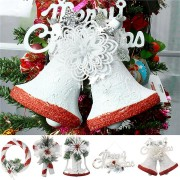 Christmas Party Home Decoration White Hand Painted Tree Ornament Pendant Door Hanging Kids Gift