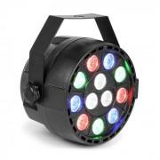 MAX Party Foco PAR 12 x 1 W RGBW-LED 15 W DMX/Standalone/Sound 7 canales (153.231)